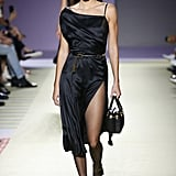 Kendall Walked the Versace Runway in a Sexy, Slinky LBD