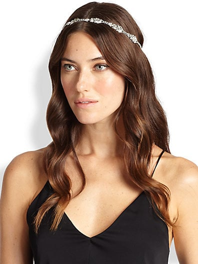 Jennifer Behr Diamond Leaves Swarovski Crystal Headwrap