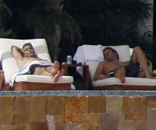 Photos of Shirtless George Clooney and Rande Gerber in Mexico