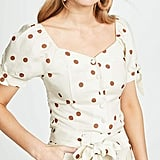 Moon River Polka-Dot Blouse