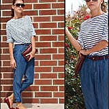 Riff on the classic nautical colour palette by injecting a darker version of red.  Photo courtesy of Lookbook.nu