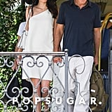 Amal and George Clooney in Italy