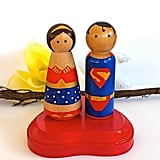 Superman and Wonder Woman Cake Toppers ($65)