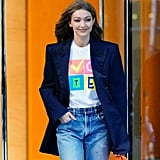 "PS: During the most recent election season, your ""Vote"" and ""Love Is love"" t-shirts have been worn by leading women such as Gigi Hadid. Why design pieces that have a political or social meaning? PG: I think it's not just designers, but anyone with an audience - whether it's an audience of one, or one million, or 100 million - to be responsible and aware of the audience that we have, and to talk about issues that are close to your heart. For me personally, in this current political and cultural climate, I think it's extremely important to talk about issues other than fashion - which is my passion and first love - because we don't live in a vacuum. The decisions made at the White House affect all of us, and I think now more than ever, we are in a position where we are able to make a very significant decision with the simple action of voting, and decide who will decide the future.  So when Gigi saw that I had designed and worn the ""Vote"" shirt for my show, she said, ""Oh my God, P, I want that!"" and so I sent it to her, and then she wore it just before voting ended. And that's what is incredible about her and her sister [Bella Hadid]. They are extremely aware about what they are able to create and the captive audience that they have, and they are unafraid to use their voices. So it was exciting. And when I saw it, I texted her, ""You're good."""