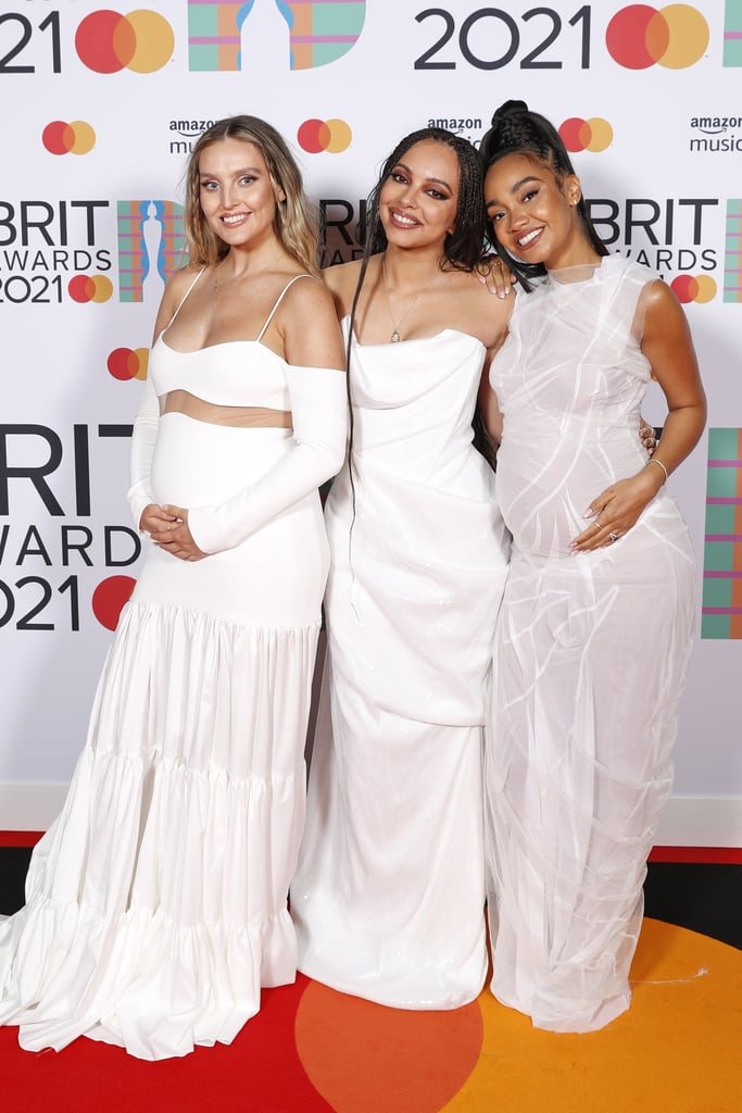 Little Mix's Matching White Dresses at the 2021 BRIT Awards