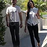 Shia LaBeouf and Karolyn Pho took a stroll near his LA home.