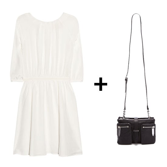 Summer is all about the chic LWD, so wear your breeziest version with flat sandals and a sleek black shoulder bag.  Get the Look:   Girl by Band of Outsiders Silk Crepe de Chine Dress ($315)  Theyskens' Theory Vala Bag ($425)