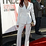 Carrie Preston showed off her long red locks at the True Blood premiere.
