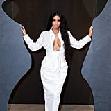 Kim Kardashian's White Shirt and Skirt June 2018