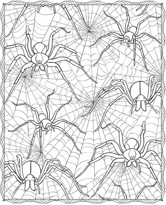 Spiders in Web Printable