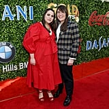 Beanie Feldstein and Bonnie Chance Roberts at the 2020 Gold Meets Golden Party in LA