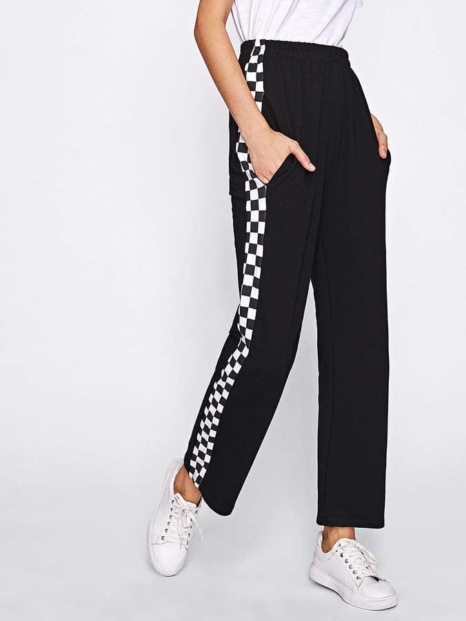 Shein Side Checked Pants