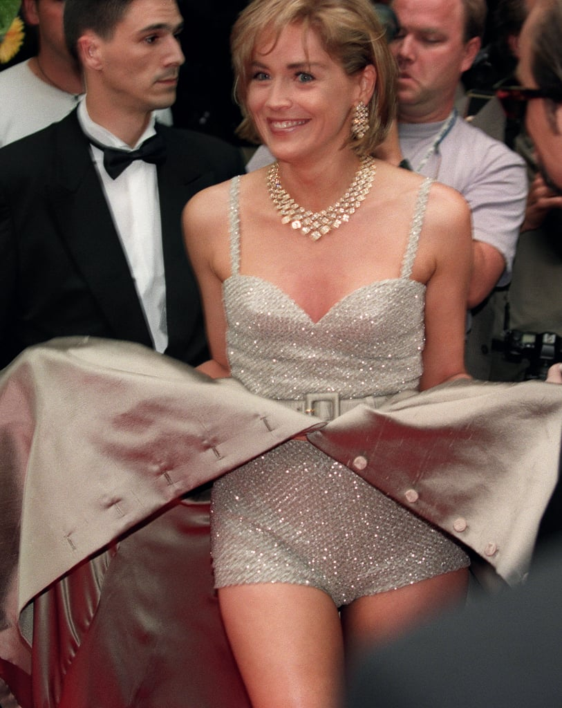 Sharon Stone was the belle of the ball in 1995, wearing a sparkly bodysuit under a silk skirt.