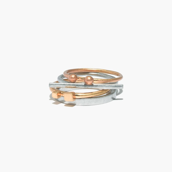 Madewell Shape Series Stacking Rings ($28)