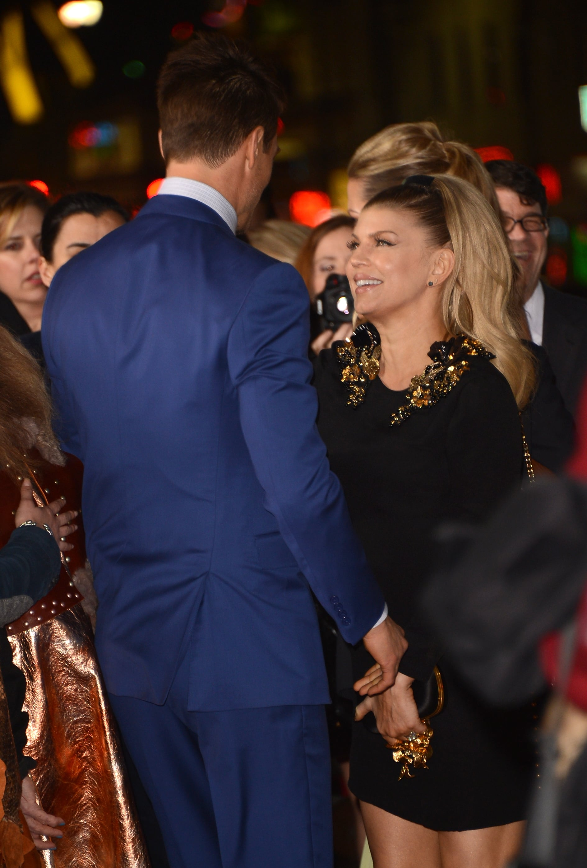 Fergie looked at Josh Duhamel lovingly at the Safe Haven premiere in Hollywood in February.