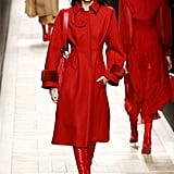 She Painted the Catwalk Red in a Monochrome Outfit at Fendi