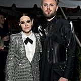 Emily Hampshire and Bobby Berk at the Netflix Oscars Party