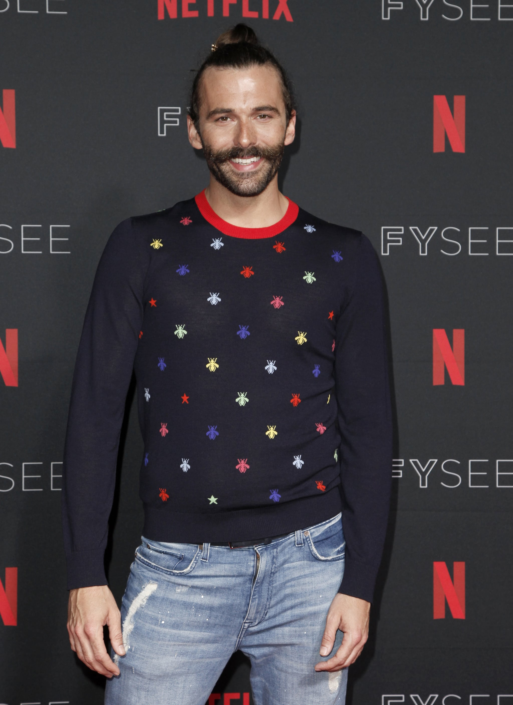 LOS ANGELES, CA - MAY 31:  Jonathan Van Ness attends the NETFLIXFYSEE event for 'Queer Eye' at Netflix FYSEE At Raleigh Studios on May 31, 2018 in Los Angeles, California.  (Photo by Tibrina Hobson/WireImage)