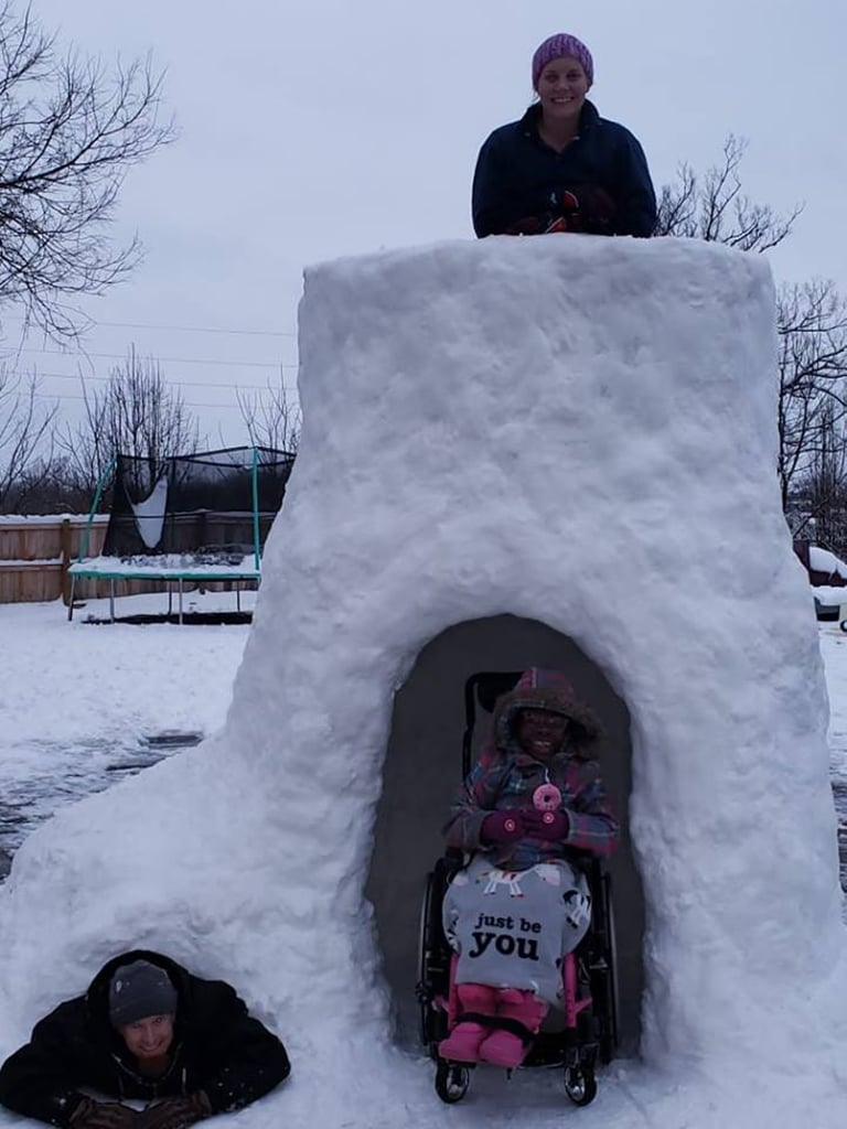 This Dad's Massive Wheelchair-Accessible Igloo Is Making the Internet Smile