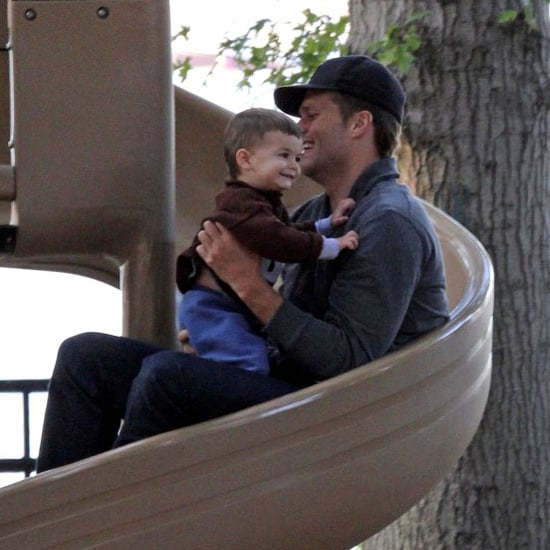 Gisele Bundchen, Tom Brady, Ben, & Jack Pictures at the Park