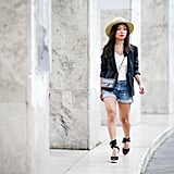 Style a Pair of Lace-Up Espadrilles With Shorts and a Blazer