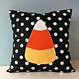 Candy Corn Throw Pillow Cover