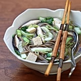 Miso Soup With Soba, Mushrooms, and Bok Choy
