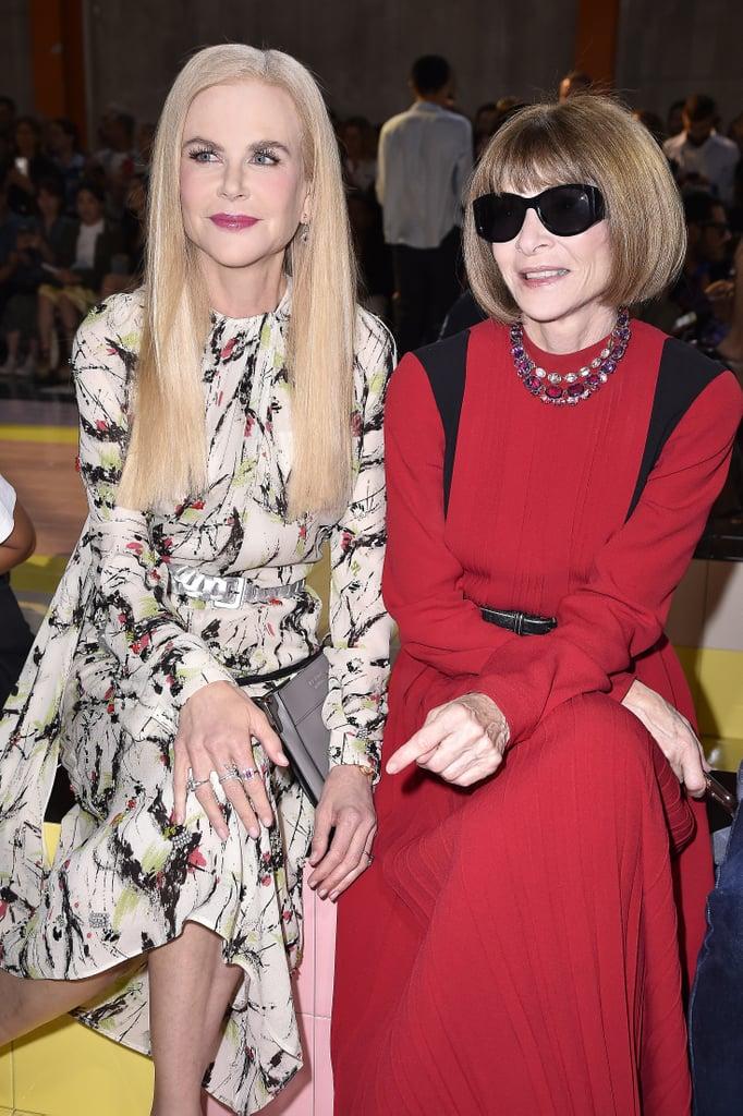 Nicole Kidman and Anna Wintour at the Prada Milan Fashion Week Show