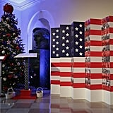 We love how patriotic touches are woven into the holiday decor.