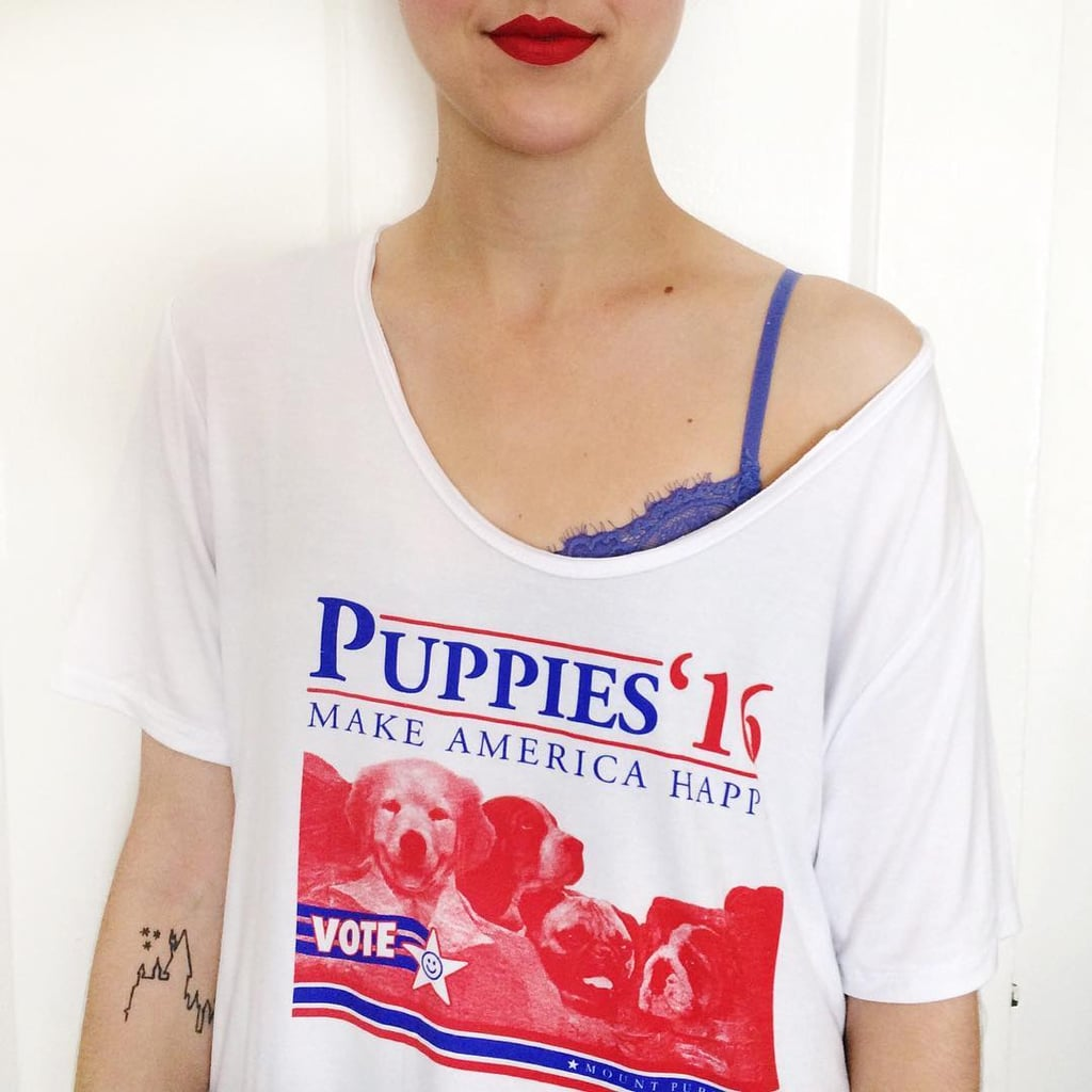 """I very rarely make political statements, but this Puppies Make Me Happy t-shirt ($33) is something anyone can agree with . . . there's nothing better for this current political climate than a campaign that makes everyone happy! This has quickly become my favorite shirt not only because it's so darn adorable, but also because it's made of a comfy, breathy material that's perfect for the Summer season."" — Brinton Parker, assistant editor, Trends and Viral Features"