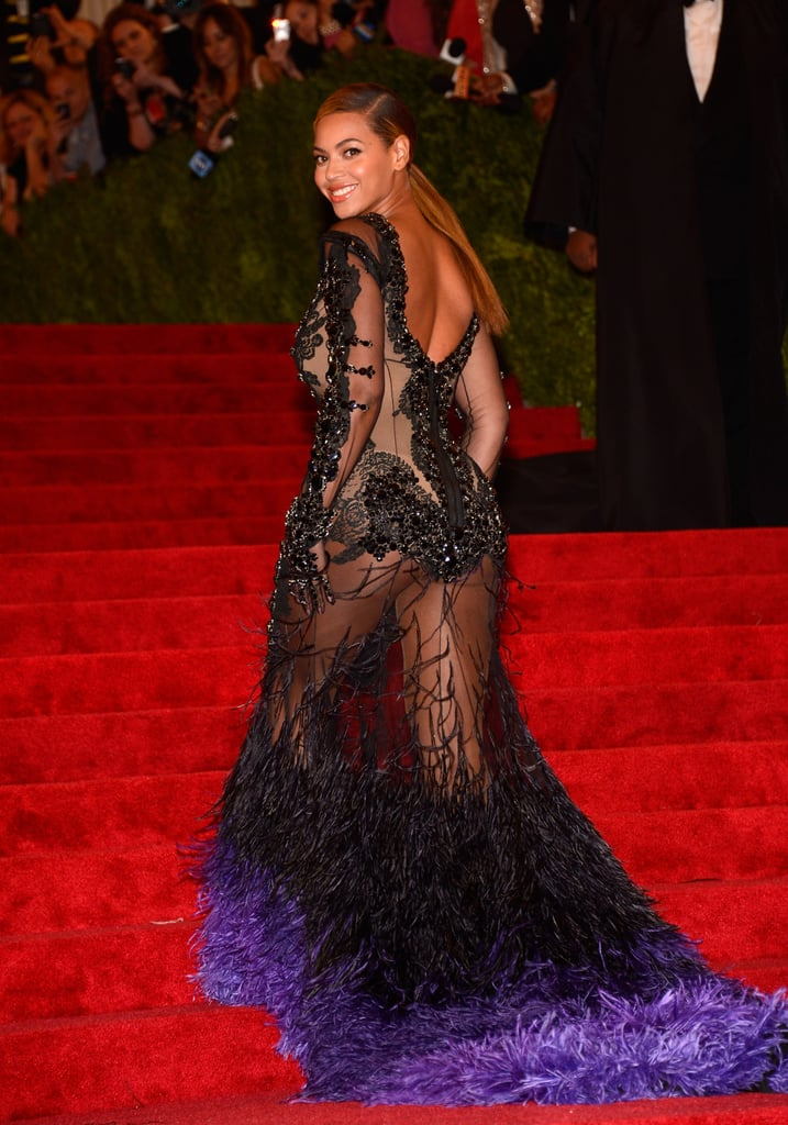 Beyoncé wore a sheer Givenchy Couture gown to the Met Gala.