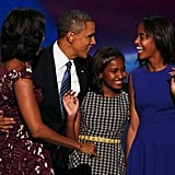 """It's one of many ways that Barack shows me and the girls how special we are. And that's the thing that touches me about him. I don't care what's on his plate. I don't care what he's struggling with. When he steps off that elevator into our residence he is Barack and dad. And there's just those little things that you do that remind you, that you know, I still got ya."" — Michelle on Barack tucking her in at night"