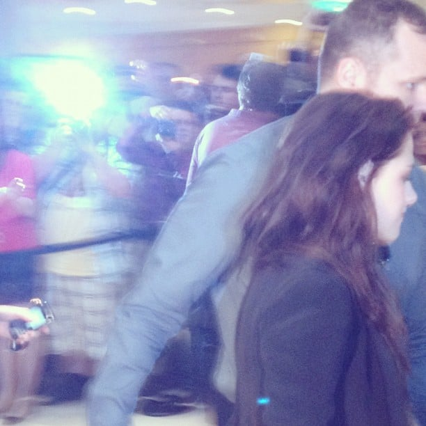Kristen Stewart made a quick exit from her On the Road press conference.