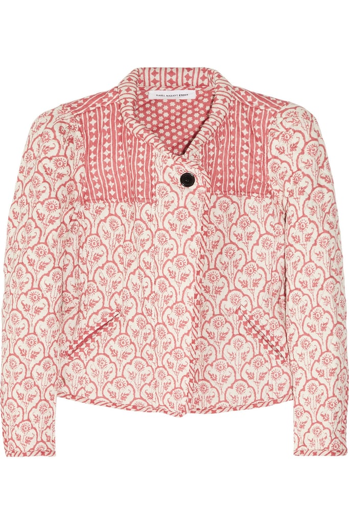 We'd pair this cute printed jacket with a white dress or jeans.  Étoile Isabel Marant Haca Quilted Cotton Jacket ($324, originally $540)