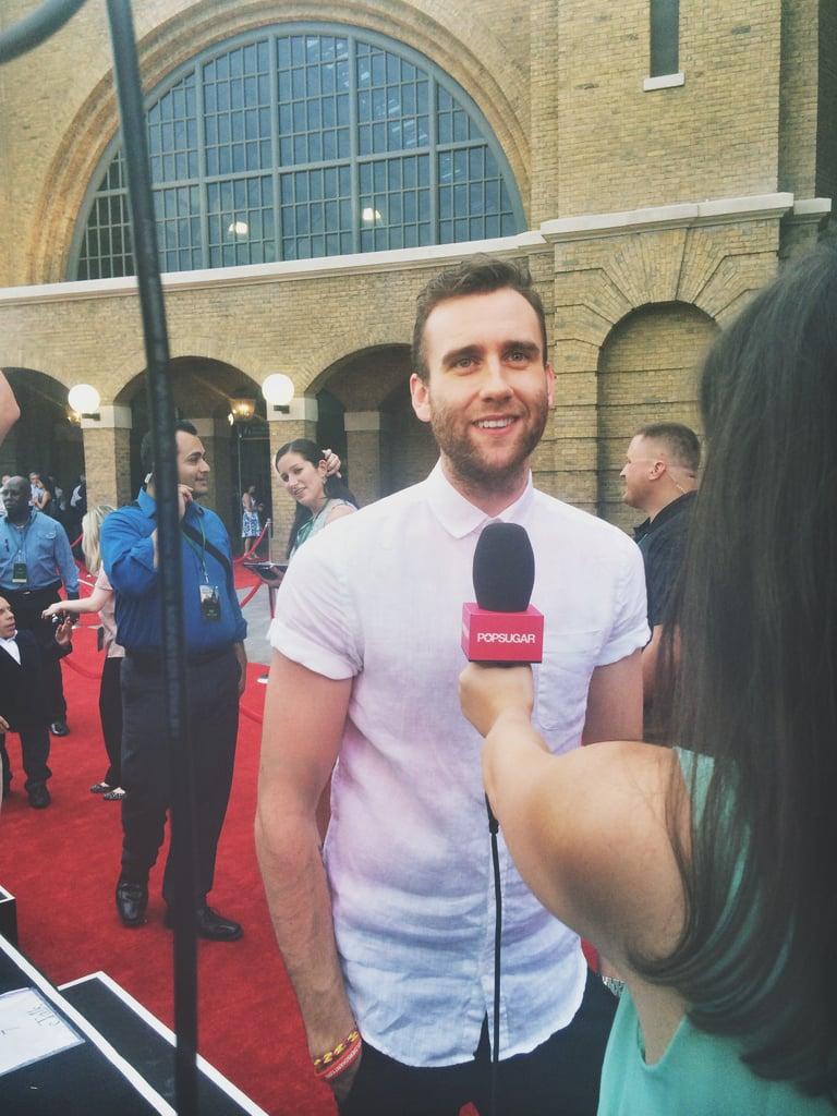 I interviewed Matt Lewis on the red carpet.