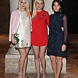 Dakota Fanning, Kirsten Dunst, and Felicity Jones attended a special Miu Miu dinner on Friday.