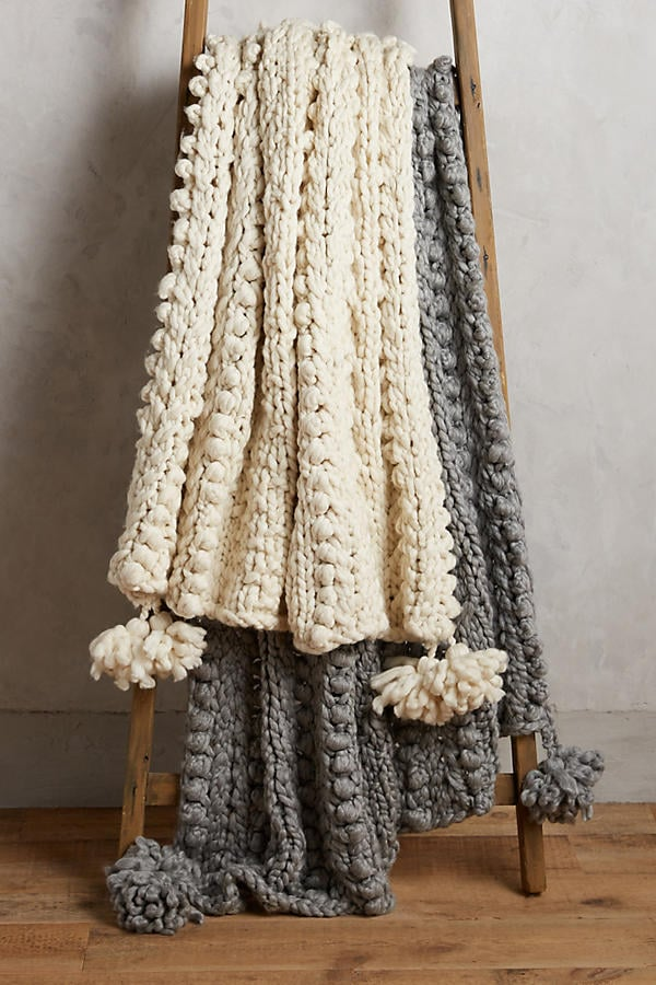 Hand-Knit Sweater Throw ($298)
