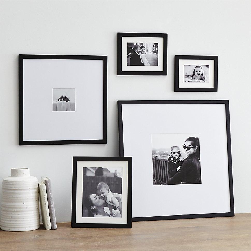 5-Piece Matte Black Picture Frame Set ($129) | Black Matte Decor ...