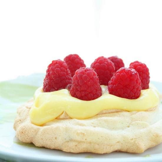 Sugar Free Lemon Curd & Berry Pavlovas