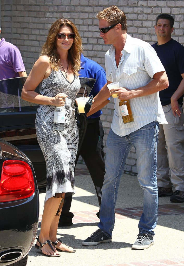 Rande Gerber and Cindy Crawford arrived with margaritas and bottles of Rande's Casamigos tequila in hand.
