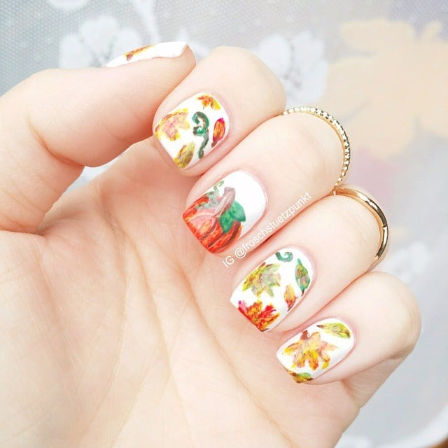 Carve Out Time to Do These Pumpkin Nail Art Looks