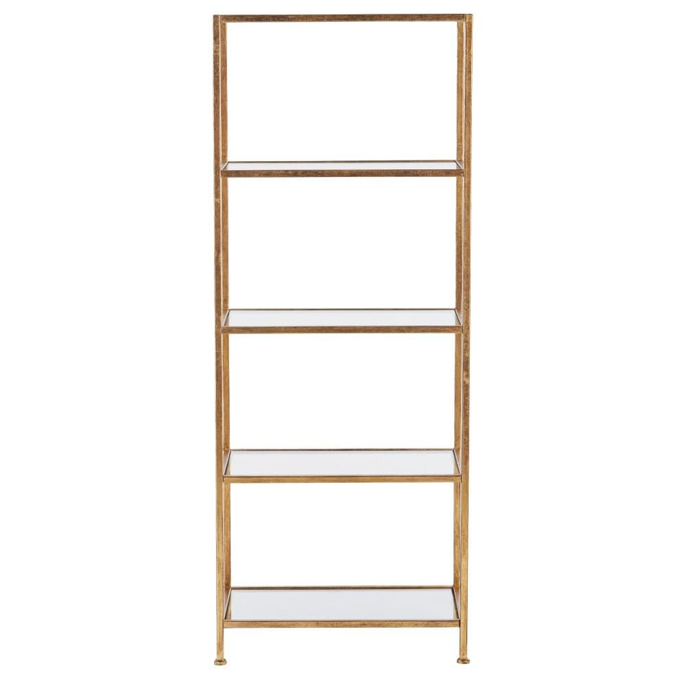 Home Decorators Collection Gold Leaf Metal 4-Shelf Accent Bookcase With Open