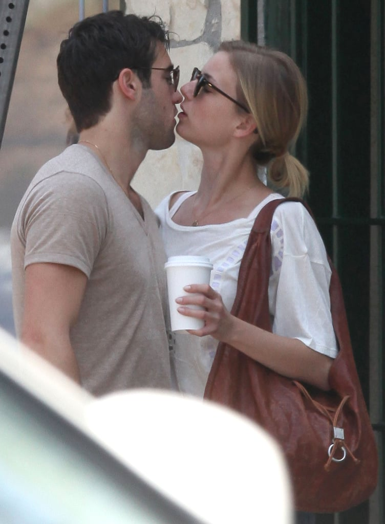 Emily VanCamp kissed Joshua Bowman after having brunch in LA.