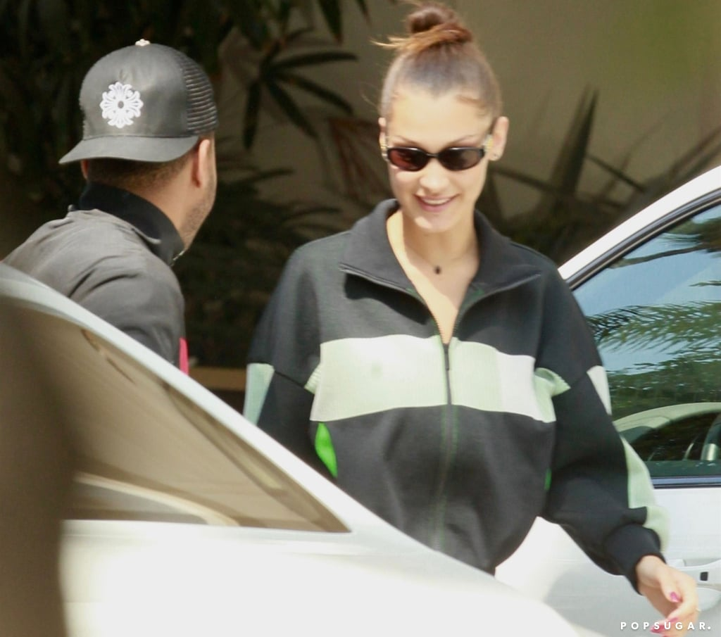 Bella Hadid and The Weeknd on Date in Matching Track Jackets
