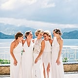 All-White Bridesmaid Dresses