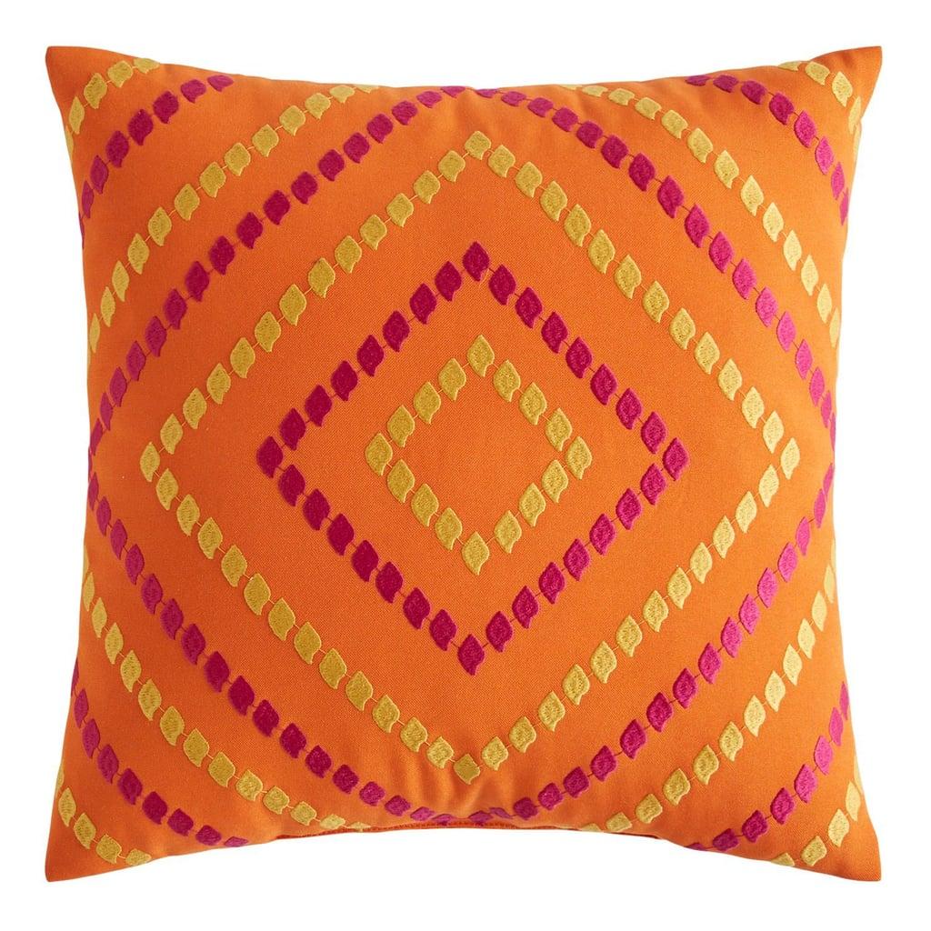 Multi Diamonds Orange and Yellow Pillow