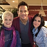 "Josh Hopkins joked around, captioning, ""Two television legends. And CourteneyCox."" Source: Instagram user mrjoshhopkins"