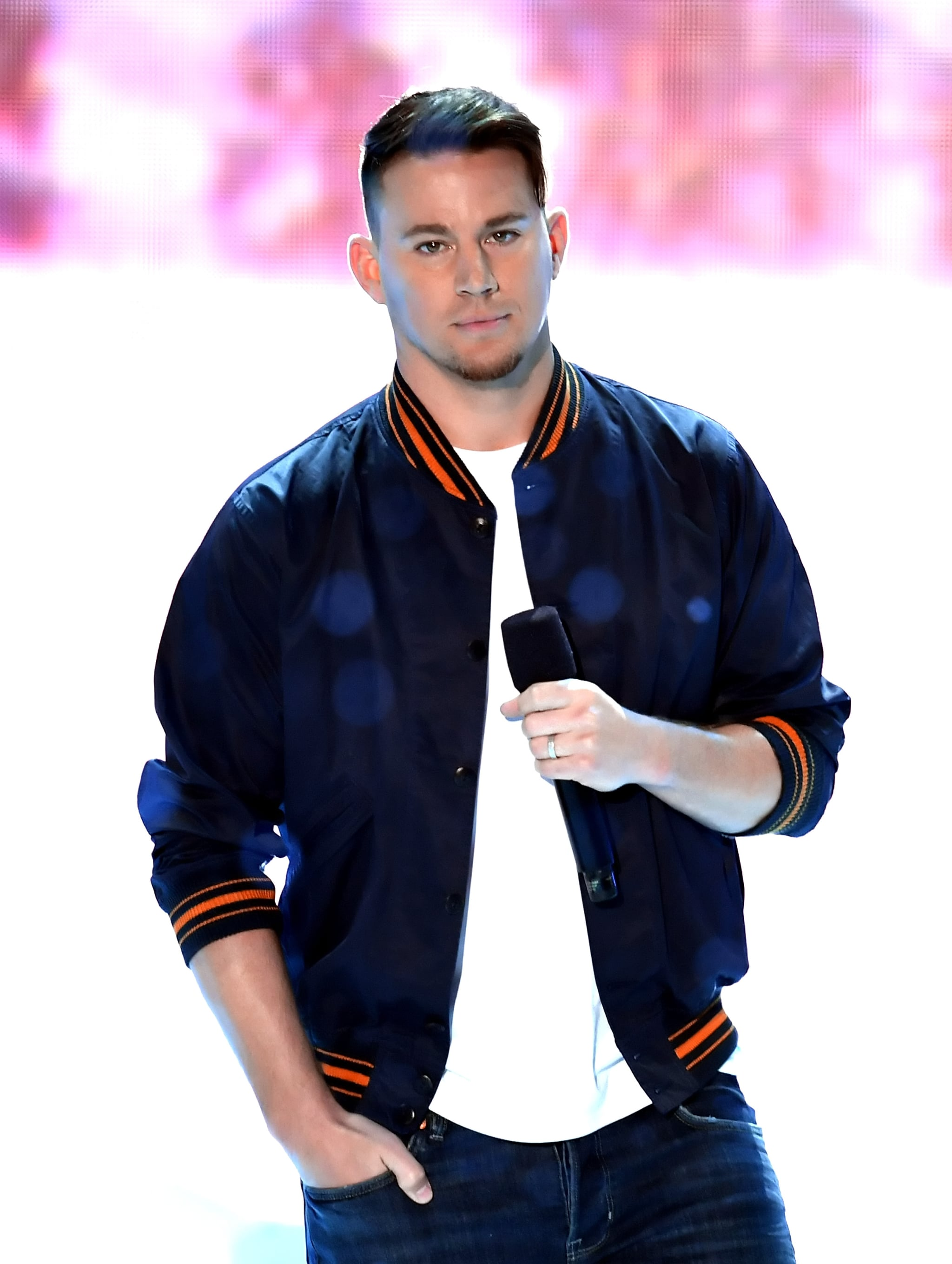 INGLEWOOD, CA - MARCH 24:  Channing Tatum speaks onstage at Nickelodeon's 2018 Kids' Choice Awards at The Forum on March 24, 2018 in Inglewood, California.  (Photo by Kevin Winter/Getty Images)