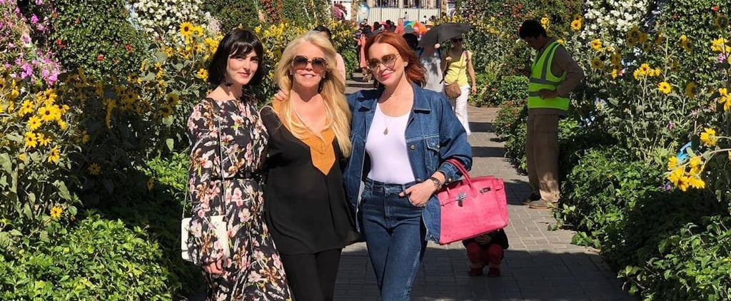 Lindsay Lohan Family Came to Visit Her in Dubai So She Took Them to the Most Insta-Friendly Place in Town