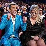 Frankie Grande couldn't hold in his excitement for favorite album winner Meghan Trainor.